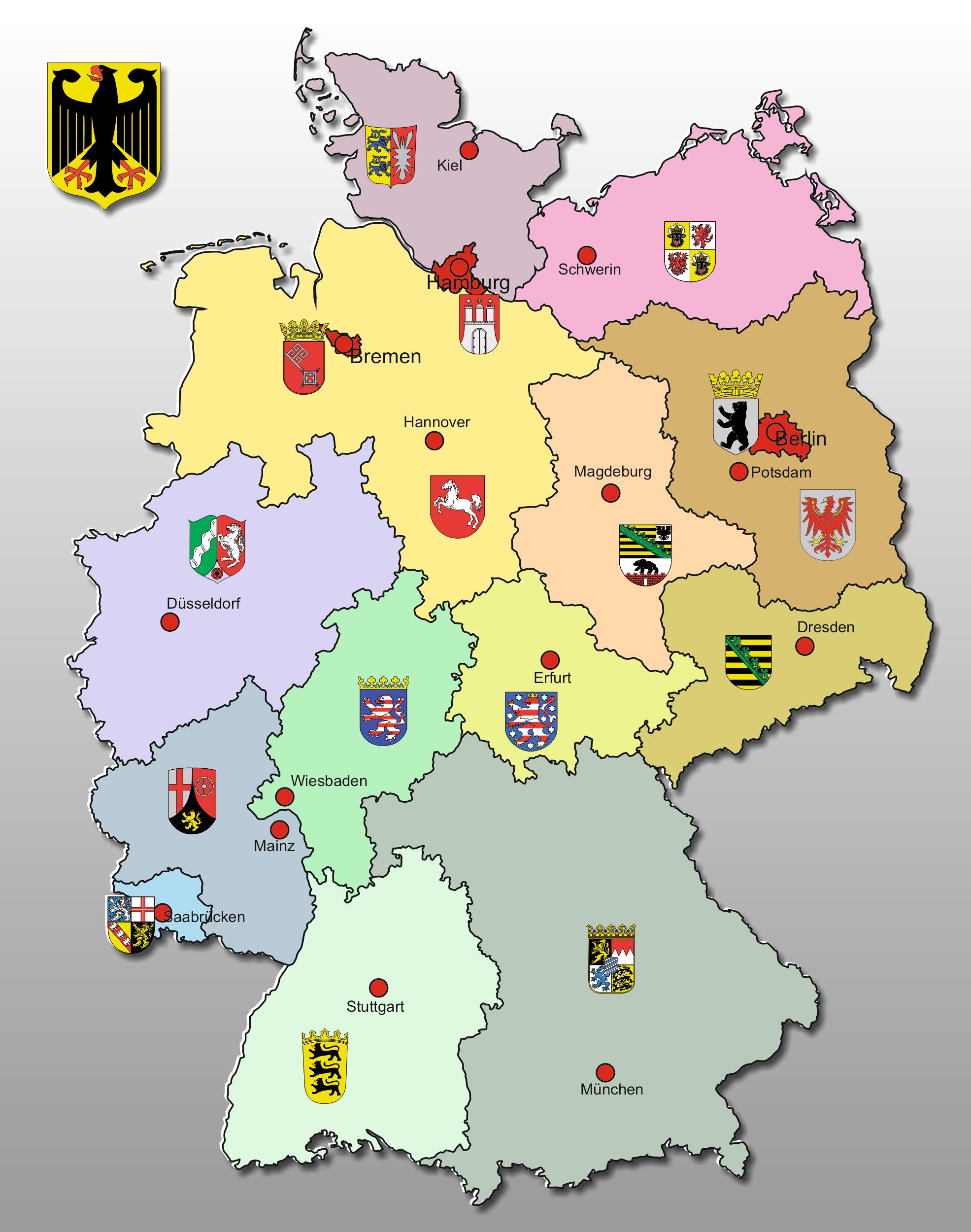 deutschlandkarte 3d kostenlos Kostenlose Landkarten aller Länder der Welt